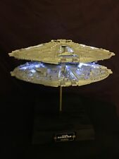 Revell Battlestar Galactica Cylon Basestar Model - FULLY BUILT + LIGHTING