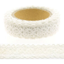 Dentelle Adhésive 15mm x 2m blanc - QKZ002-01