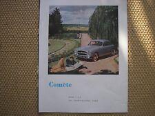 AUTO FORD COMETE ADVERTISING PUBBLICITA PUBLICITE WERBUNG FRANCE 1953