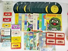 Read Along Books with Records & Cassette Tapes Mixed Lot Disney & Sesame Street