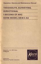Kern DKM2-A - Operation, Service and Maintenance Manual Kern & Co. Aarau Swiss