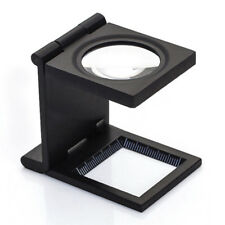 Linen Tester Cloth Magnifying Glass Loupe Metal Printed Materials Thread Counter
