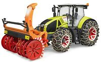 Bruder Toys Claas Axion 950 Tractor with snow chains and snow blower 03017 NEW