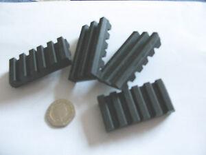 4 pcs Antivibration Rubber Pad 25x50x10mm Noise Mount foot grip shock absorber
