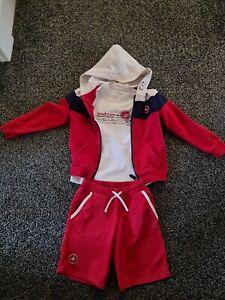 Mitch And Son 3 Piece Set Shorts, Tshirt And Zipper Age 5-6yrs Boy Designer