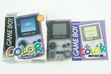 Nintendo Gameboy COLOR Clear Purple Console 2 GBC Box From Japan