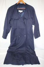 "J.GALLERY Navy Blue Double Breasted ""Sailor"" Trench Coat Womens Size 7/8-B24A"