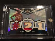 2007-07 Topps Triple Threads Platinum Dominique Wilkins GU Jersey Patch #'d 1/1