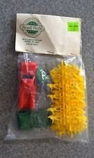 VINTAGE SMALL WORLD PLASTIC FIREFIGHTERS & VEHICLES - NIB - NEW IN BAG -unopened