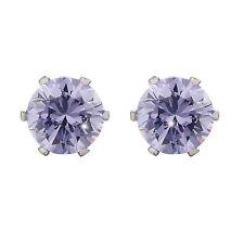 925 Sterling Silver Classic Diamond Cutting Stud Earrings LP