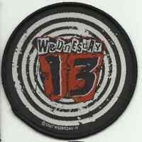 WEDNESDAY 13 spiral 2007 circular WOVEN SEW ON PATCH no longer made MURDERDOLLS