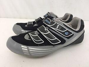 iQ Pearl iZumi Vagabond M4 Silver Black Leather Cycling Sport Shoes Womens 8.5