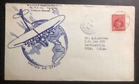 1944 Aylmer Camp Canada Patriotic cover To Bartlesville USA United We Stand