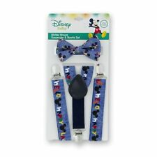 Disney Mickey Mouse Suspenders and Bowtie Set - Baby Boys - NIP 0-12 Months