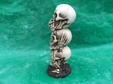 LATEX ONLY MOULD 3 SKULLS 20CM TALL ORNAMENT MOULD