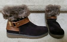New Spring Step Womans Ankle Leather Water Resistant Winter Boots Sz 37 US 6.5-7