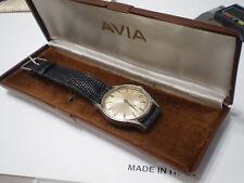 Avia orologio da polso wristwatch meccanico carica manuale con scatola testato