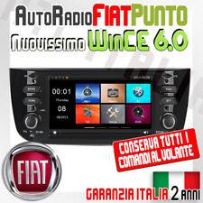 "AUTORADIO 7"" FIAT PUNTO EVO USB SD GPS MP3 DVD -Navigatore MAPPE INCLUSE Usato"