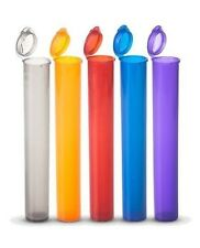 """TUBE 4.5"""" LONG PLASTIC CONTAINER VIAL QTY AVAIL 1 PC TO 15 PC PACKS  MADE IN USA"""