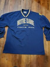 Vintage Lee Sport Fighting Irish NOTRE DAME Embroidered Long Sleeve Shirt XL