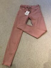 River Island Pink Amelie Jeans Size 8R (mid rise superskinny)