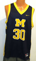 vtg LAVELL BLANCHARD #30 Nike Michigan JERSEY LARGE wolverines made 2000 blue L