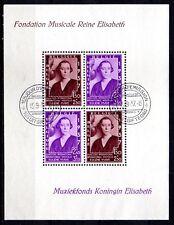 Reine Elisabeth - bloc 7 avec oblitération 1er jour - cote de 45,00 euros.