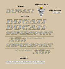 DUCATI 350 SUPER SPORT DESMODUE SERIE ADESIVI STICKERS
