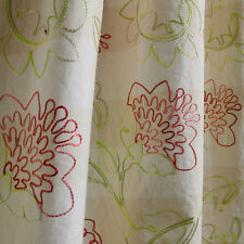 16 YDS SCHUMACHER WAVERLY PETAL PUSHER PINK GREEN EMBROIDERED FABRIC OUTLET