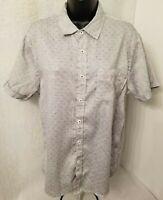 Michael Brandon Mens Black White Design Slim Fit Button Down Shirt Size M