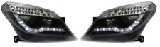 Para Opel Astra Mk5 H 04-09 lámparas LED DRL Faros Negro Proyector Led Ind