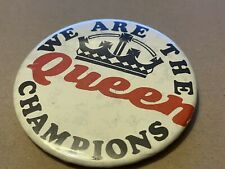 More details for queen we are the champions very rare vintage metal 1977 pin badge