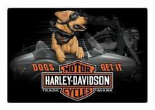 Harley-Davidson Dogs Get It Embossed Tin Sign 17 X 11.5 Inches 2011311