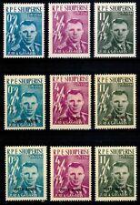 Albania 1962, Mi.#642-644 + 647-649 a+b, Sc.#604-606, Gagarin all 3 types!, MNH!