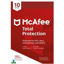 McAfee TOTAL PROTECTION 2019 10 Devices 1 Year Antivirus Key Mac Windows Android