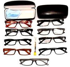 CLEARANCE READING EYE GLASSES Lot 2 Pack Men, Cases, Repair Kit, Gentlemen +4.00
