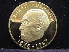 Medaille  konrad adenauer 1967 magni germani   Silbermünze %999 .Nr 215