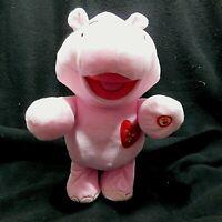 "Hallmark Pink Hippo Dances Sings ""I Like BIG Hugs"" Plush Stuffed Animal GUC"