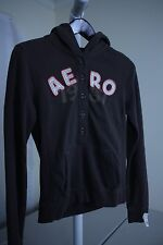 Aeropostale Cotton Blend Multi-Colored Buttoned Hoodie - Size- Medium