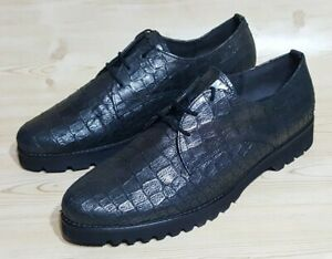 Gabor Easy Walking Womens Aligator Print Oxford Shoes Size 9
