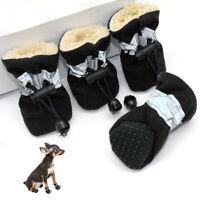 Hundeschuhe Fleece Winter Wasserdicht Schuhe für Hunde Pfotenschutz Antirut SML