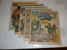 2000 AD Comic 5 Comic JOB LOT - Progs No 305 too 310 Date 1983 - UK Paper Comic