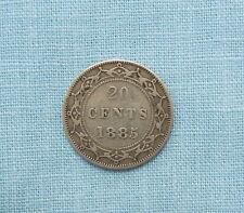 1885 Newfoundland 20 cent silver