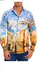 "Robert Graham Urban Sands Limited Edition shirt rare. Retail $500 size ""XL"""