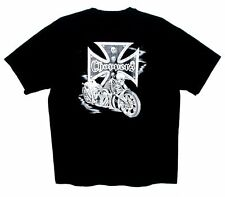 Sz XL Men's T-Shirt CHOPPERS with SKELETON On Back HANES Black Cotton