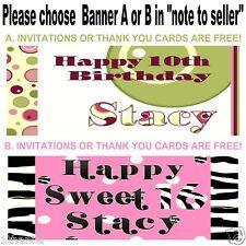 Designer Birthday Banner Personalized Custom Design Indoor Outdoor Party