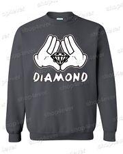 Cartoon Hands Diamond CREWNECK illuminati diamond hands sweater