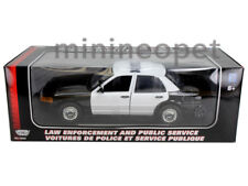 MOTORMAX 2001 FORD CROWN VICTORIA UNMARKED POLICE CAR 1/18 BLACK WHITE