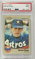 1983 Fleer #463 Nolan Ryan PSA Mint 9 Houston Astros