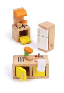E3453 HAPE Wooden Dolls Kitchen Set [Happy Family] Toddler Children Age 3yrs+